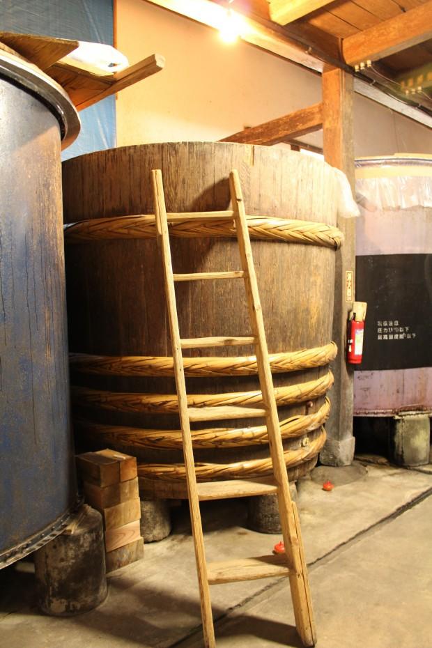 珍しい木の樽