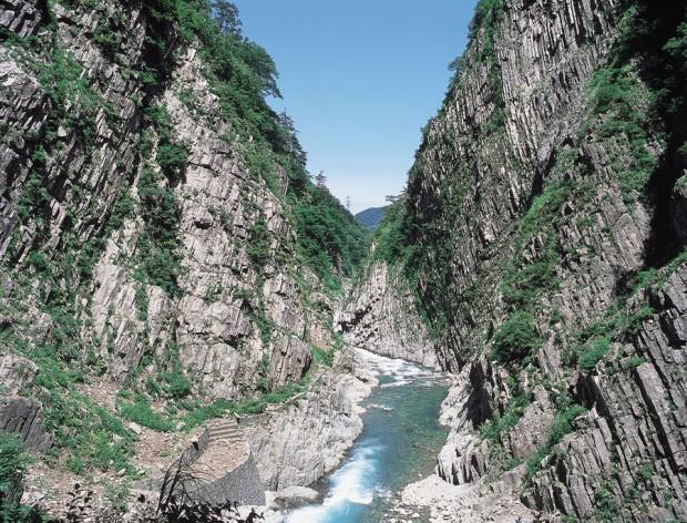 日本三大渓谷の一つ清津峡