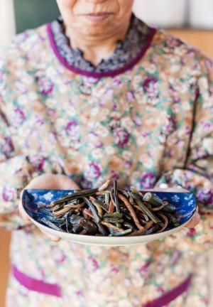 雪国の山菜料理