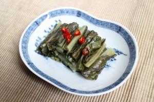 野沢菜とお茶のみ