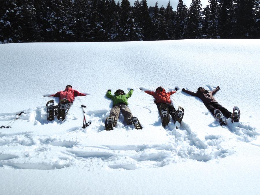冬期間はスノーシューツアーも開催する