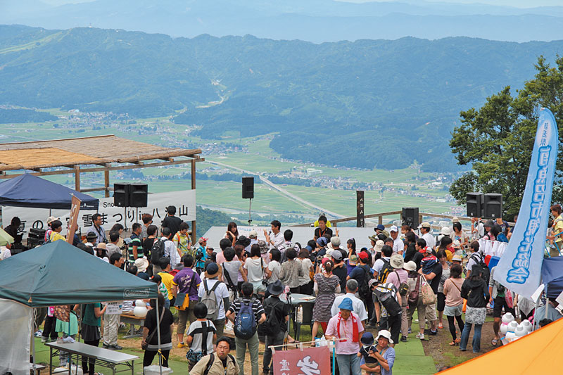 Summer Snow Festival 夏の天空雪まつり in 八海山